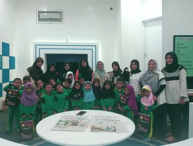 Kunjungan RA Bimantara ke PERPUSDA Kota Serang